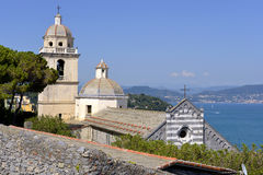 Church at Porto Venere in Italy Royalty Free Stock Images