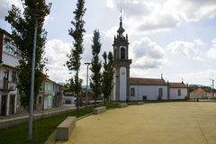 Church, Portugal, way to Santiago de Compostela. Church, Portugal, the way of Santiago de Compostela Royalty Free Stock Images