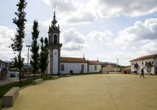 Church, Portugal, way to Santiago de Compostela. Church, Portugal, the way of Santiago de Compostela Stock Photo