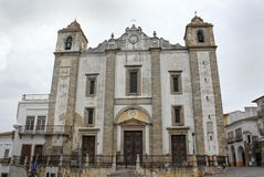 Church in Praca do Giraldo, Evora Stock Image
