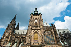 Church in prague. An old church in prague with moody sky Royalty Free Stock Photos