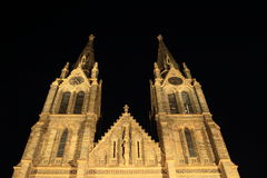 Church in Prague stock photography