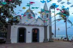 Church at Praia do Forte, Brazil. Mata de São João, Bahia/ Brazil - July 5, 2005 -  São Francisco de Assis` Church  at Praia do Forte royalty free stock image