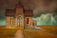 Church on the praire Royalty Free Stock Photos