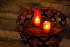 Church Candles Glow in the Dark Royalty Free Stock Images