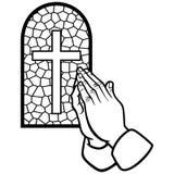Church Prayer Illustration. A vector illustration of a Church Prayer Illustration Royalty Free Stock Images