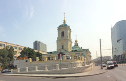 Church in Preobrazenskaya Square in Moscow Stock Photo