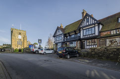 Church and Pretty Village of Goudhurst, Kent, UK Stock Image