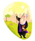 Church priest. Illustration of Church priest in vector Stock Image