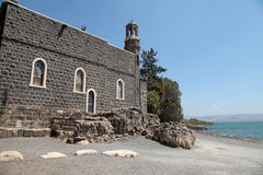 The Church of the Primacy of Saint Peter, Tabgha, Israel Stock Photo