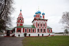 Church Of The Prince Dimitry-on-blood stock images