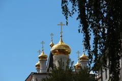 The Church of Prophet Iliya, Nizhny Novgorod. Cupola of The Church of Prophet Iliya and cloudy sky in Nizhny Novgorod Royalty Free Stock Image