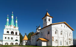 Church of the Protection of the Theotokos with refectory of Svir Royalty Free Stock Photo