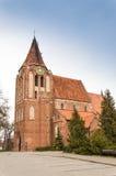 Church in Pruszcz Gdanski. Church of the Exaltation of the Holy Cross, Pruszcz Gdanski, Poland Stock Photography