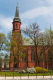 Church in Pruszkow - Poland. Gothic Church St kazimierz in Pruszkow - Poland royalty free stock photos