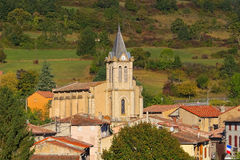 Church Puivert in France Stock Images