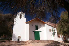 Church In Purmamarca. In Quebrada de Humahuaca region in northern Argentina Stock Photo
