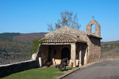 Church of Puycelsi. The ancient church of the village of Puycelsi in France Stock Photos