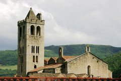 Church in Pyrenees royalty free stock image
