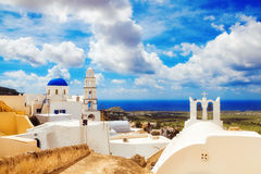 Church in Pyrgos, Santorini, Greece Royalty Free Stock Photography