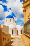 Church in Pyrgos, Santorini, Greece Royalty Free Stock Images