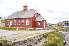 Church in Qaqortoq, Greenland Stock Photo