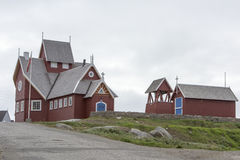 Church Qeqertarsuaq, Greenland Stock Photos
