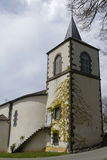 Church at Queuille Stock Photography