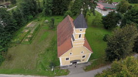 Church on the quiet countryside stock footage