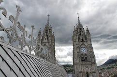 Church in Quito. The capital of Ecuador stock photo