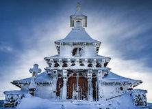 Church on Radhosti. Church on top of the mountain Radhost in winter royalty free stock image