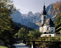 Church in Ramsau, Germany Stock Photo