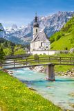 Church of Ramsau, Nationalpark Berchtesgadener Land, Bavaria Ger royalty free stock images