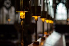 Church reading lamps Royalty Free Stock Image