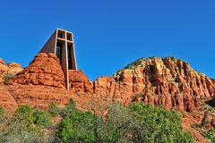 Church in red rocks Royalty Free Stock Images