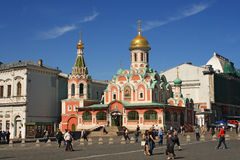 Church in the Red Square in Moscow royalty free stock photography