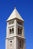 Church of the Redeemer, Jerusalem. The tower of the Church of the Redeemer in Jerusalem, old city, Israel stock images