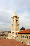 The Church of the Redeemer, Jerusalem. View of Jerusalem old city and the Lutheran Church of the Redeemer, Israel Stock Image