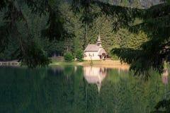 Church reflected at the lake Royalty Free Stock Photos