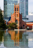 Church reflection Stock Images