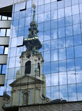 Church reflection Stock Image