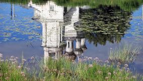Church Reflection in water Royalty Free Stock Photos