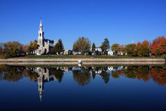 Church reflexion Royalty Free Stock Photography