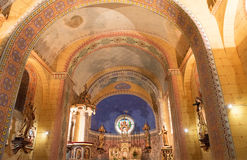 Church of rennes le chateau. Interior of the church of rennes le chateau stock images