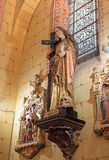 Church of rennes le chateau,  Marie Madeleine statue Royalty Free Stock Photo