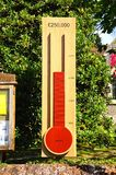 Church restoration fund thermometer. Stock Photos