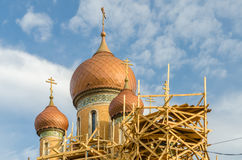 Church Restoration. Restoration Of The Russian Church In Bucharest, Romania Royalty Free Stock Images