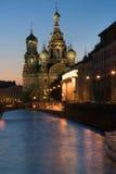 Church of Resurrection. St.Petersburg, night stock photo