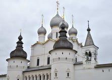 Church of Resurrection of Christ gate in Rostov Kremlin, Rostov, one of oldest town of Golden Ring, Yaroslavl region, Russia. Church of Resurrection of Christ royalty free stock photo
