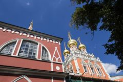 Church of the Resurrection of the christ in kadashi, Moscow, Russia Royalty Free Stock Photo